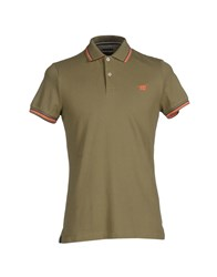 Henry Cotton's Topwear Polo Shirts Men Military Green