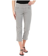 Jag Jeans Echo Pull On Classic Fit Crop In Dolce Twill Fog Grey Women's Casual Pants Gray