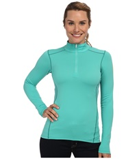 Arc'teryx Phase Ar Zip Neck L S Seaglass Women's Long Sleeve Pullover Green