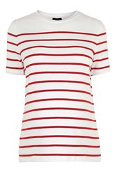 Topshop Maternity Stripe Tee Red