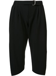 Issey Miyake 'Star' Cropped Tapered Trousers Black