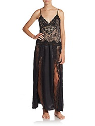 Jonquil Lace Long Gown Black
