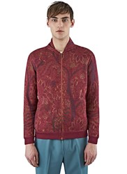 Missoni Woven Knit Bomber Cardigan Red