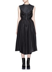 Toga Archives 'Monofila' Organdy Bustier Dress Black
