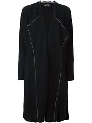 Y's Raw Edge Cardi Coat Black