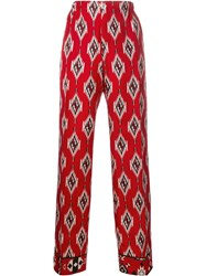 For Restless Sleepers Printed Pyjama Trousers Red