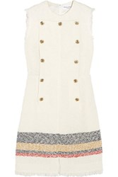 Sonia Rykiel Embellished Boucle Tweed Mini Dress Cream