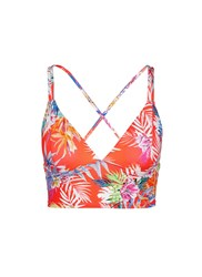 Vitamin A 'Vista' Tropical Leaf Strappy Back Bikini Top Multi Colour