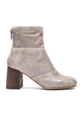 See By Chloe Suede Mila Booties In Metallics Gray Metallics Gray