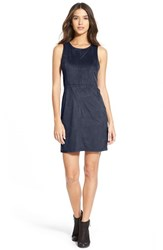 Junior Women's Painted Threads Faux Suede Shift Dress Gucci Blue
