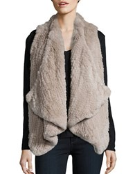 Linda Richards Rabbit Fur Vest Champagne