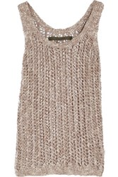 Enza Costa Open Knit Tank Taupe
