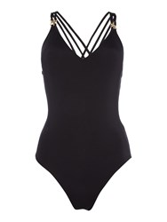 Biba Kayla Strappy Back Swimsuit Black