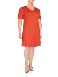 Eileen Fisher Plus Size Hemp And Organic Cotton V Neck Tee Dress Geran