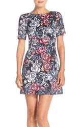 Women's French Connection 'Midnight Rose' Stretch Cotton A Line Dress