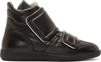 Maison Martin Margiela Black Leather Clinic High Top Sneakers