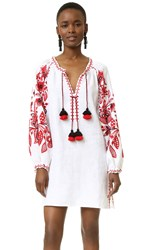 March11 Tunic With Flower Garden Embroidery White