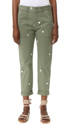 Stella Mccartney Skinny Ankle Grazer Pants Kaki