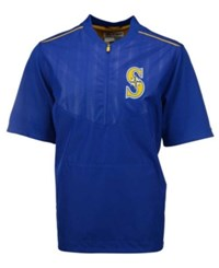 Majestic Men's Short Sleeve Seattle Mariners Authentic Collection Training Jacket Royalblue