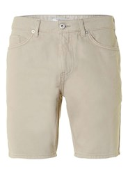 Topman Stone Slim Denim Shorts