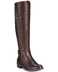 Alfani Women's Jadah Riding Boots Only At Macy's Women's Shoes Dark Brown