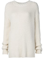 Adam By Adam Lippes Adam Lippes Oversized Ribber Jumper White