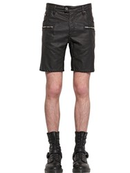 Just Cavalli Faux Leather Shorts