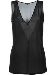 Ann Demeulemeester V Neck Tank Top Black