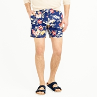 J.Crew 6.5' Tab Swim Short In Exploded Floral