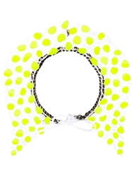 Annelise Michelson Silicon Dots Necklace Yellow And Orange