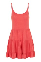 Topshop Strappy Tiered Tunic Coral