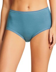 Fine Lines Pure Cotton Full Briefs Jewel Green