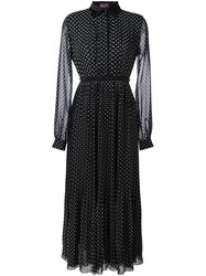 Giamba Polka Dot Shirt Dress Black