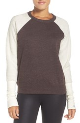 Alo Yoga Women's Deck Pullover Mink Heather Natural