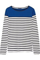Petit Bateau Striped Cotton Top Blue
