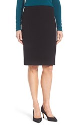 Halogenr Petite Women's Halogen Seamed Pencil Skirt Black