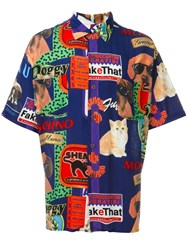 Moschino Vintage Cat And Dog Print Shirt Multicolour