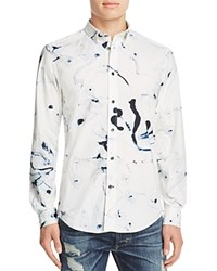 Diesel S Clark Marble Print Slim Fit Button Down Shirt White