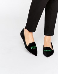 Asos Lethal Halloween Pointed Slippers Black