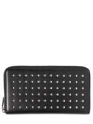 Saint Laurent Long Studded Leather Zip Round Wallet