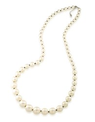 Carolee Graduated Faux Pearl And Hematite Necklace Silver
