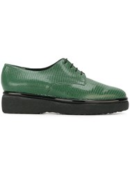 Robert Clergerie Platform Lace Up Shoes Green