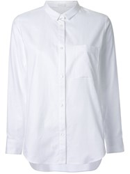 Rito Slim Collar Button Down Shirt White