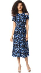 Rebecca Taylor Open Shoulder Kyoto Dress Black