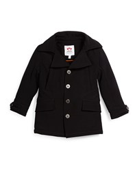 Appaman Empire Button Front Ponte Coat Black