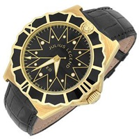 Julius Legend Leo 18K Gold And Crocodile Leather Automatic Watch