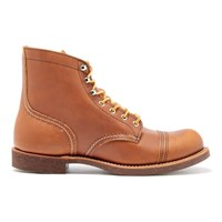 Red Wing Shoes Men's Iron Ranger Toe Cap Leather Boots Oro Russet Tan