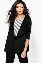 Amelia Waterfall Elasticated Back Crepe Jacket