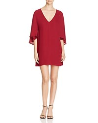 Cupcakes And Cashmere Suki Cape Dress Red Velvet