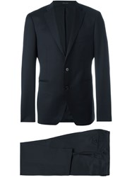 Tagliatore Fitted Business Suit Blue